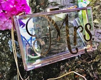 Acrylic Wedding Clutch Photoprop