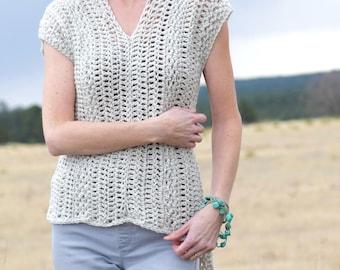 Crochet Shirt Pattern, Crocheted Poncho Pattern, Crocheted Cover Up, Easy Crochet Top Pattern, Crocheted Sweater, Beginner Crochet Pattern