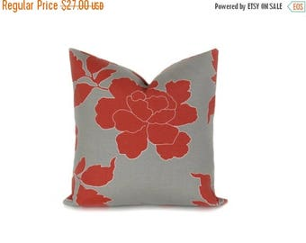 15% Off Sale Euro Pillow Euro Pillow Sham Outdoor Pillow 22x22 Pillow Cover  Red Gray Pillow  Euro Pillow Case Printed Fabric both sides Cus