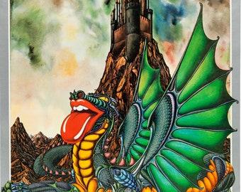 Rolling Stones Pembroke Castles Concert Poster (1973). Very Rare.