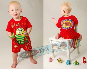 Shortsleeve spring summer romper PAINTED boys Boutique custom painted newborn 3mth 6mth12mth 18mth 24mth