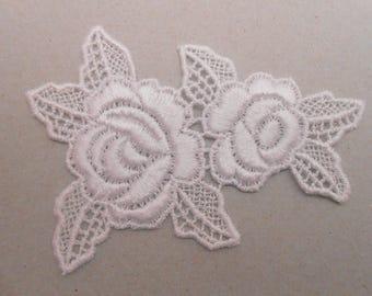 Applique lace white 8.5 x 6 cm