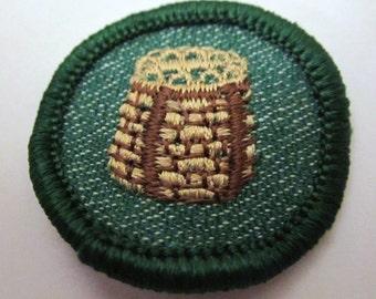 """Vintage 1950's Intermediate Girl Scout Badge """"Campcraft"""""""