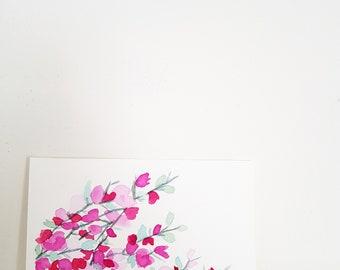 Original painting of pink blossom