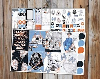 FOILED Star Wars Planner Sticker DELUXE Kit (7 pages) | Star Wars Movie Planner Sticker Kit | for use with Erin Condren LifePlanner