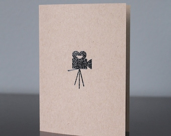 Handmade Vintage Movie Camera Card