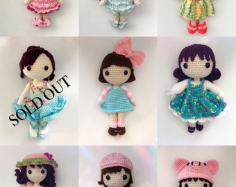 Amigurumi doll collection (price is for ONE doll)