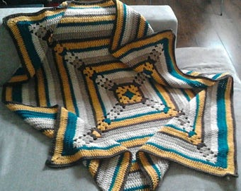 Beautiful Lapghan. Hand Crocheted and Ready And Waiting To Be Shipped