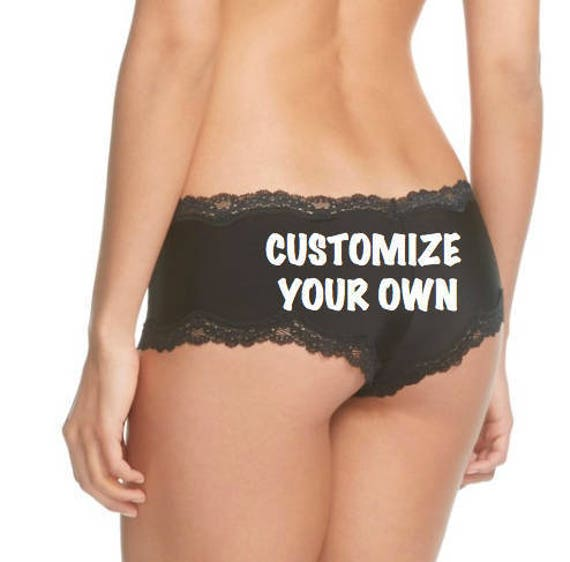 Personalize Your Own Black Birthday Panties Sizes XS, S, M, L and XL * Fast Shipping *