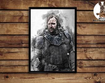 Sandor Clegane print Game of Thrones wall art home decor poster