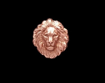 50off Copper Rose Gold Brass Regal Small Flat Lion Head Stamping 26mm x 29mm Perfect for Steampunk Art Made in the USA Brass