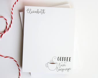 Personalized Notepad for Mom - Mother's Day Gift - Mom Notepad - Customized Gift for Her - Style: Coffee is my Love Language