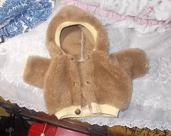 Doll Coat, Fur Doll Coat, Doll Clothing, Vintage Doll Clothing, Doll Accessorys, Doll,Teddy  Bear Coat, Toys, Vintage Toys :)s