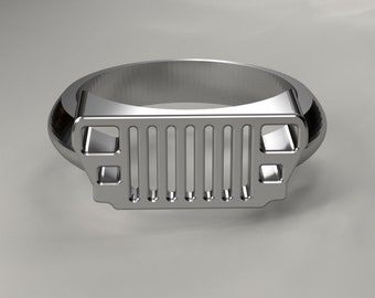 YJ Jeep grill ring