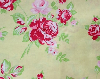 Darla Collection Rose Yellow Fabric by Tanya Whelan TW21