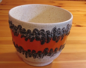 Vintage West German Planter with Fat Lava from Bay Keramik