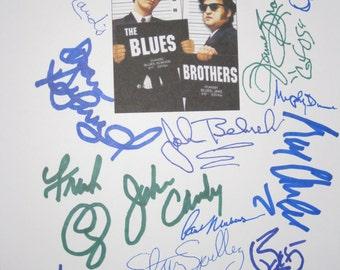 The Blues Brothers Signed Film Movie Script Screenplay X18 Autographs John Belushi Dan Aykroyd Steven Spielberg John Candy Ray Charles Brown