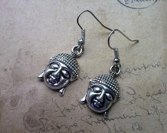 Buddha earrings ~ silver ~
