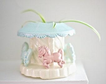 SALE! Nursery Carousel Planter - Conrad Ceramics 1957