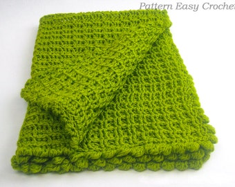 Crochet Pattern Baby Blanket for newborn - instant download