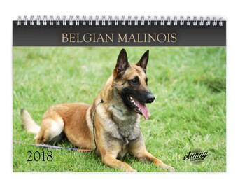 Belgian Malinois 2018 Wall Calendar