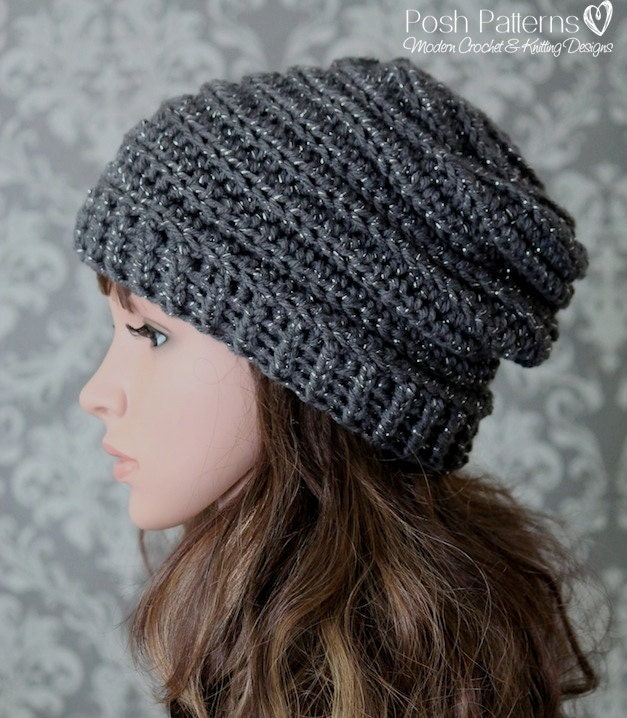 Crochet pattern easy crochet pattern crochet slouchy hat zoom dt1010fo