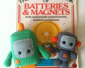 Two Little Robots: A Crochet PDF Pattern