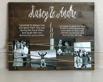 Wedding gift, wedding vows, wedding vow keepsake, wedding vows sign, personalized gift for couple, bridal shower gift, vow renewal gift,