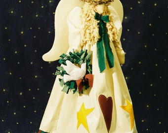 Heavenly Peace - Cloth Doll E-Pattern- 21in Christmas Angel Epattern
