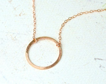 Eternity Petite Necklace - rose gold circle necklace, eternity circle necklace, everyday circle necklace, bridesmaid
