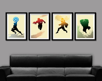 Super Hero Minimalist Movie Poster Set - Home Decor
