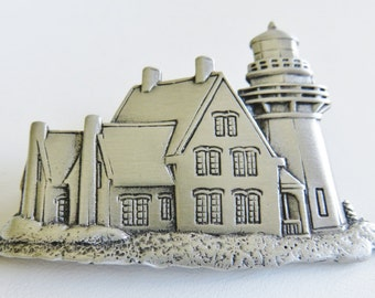 JJ Jonette Guiding Light Lighthouse Brooch Pin