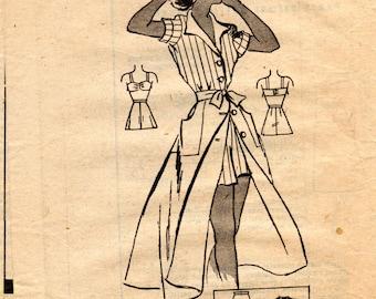 1940s Playsuit Sportswear Pattern - Vintage American Weekly 3866 - Bust 34 Mail Order