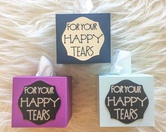 Happy Tears Mini Tissue Box
