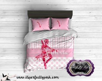 Ballerina Rose Petal Dancer Bedding Custom Design and Personalized Comforter or Duvet with Monogram