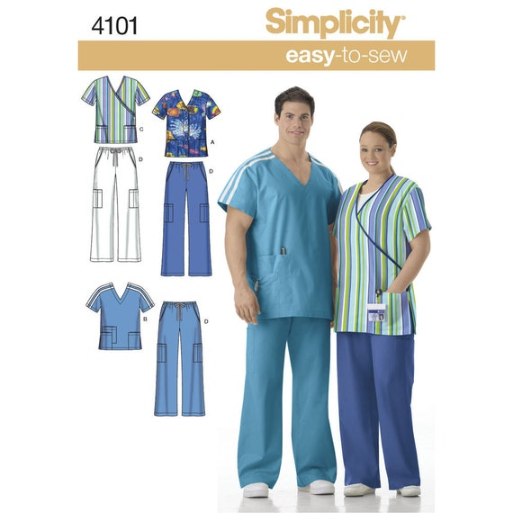 Women\'s and Men\'s easy-to-sew Scrubs Sewing Pattern