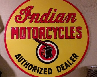 Limited Edition Indian Motorcycles Sign