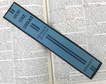 Gus The Great - Leather Bookmark - Book Spine Bookmark - Unique Bookmark - Book Lover - Gift For Reader - Bookspine