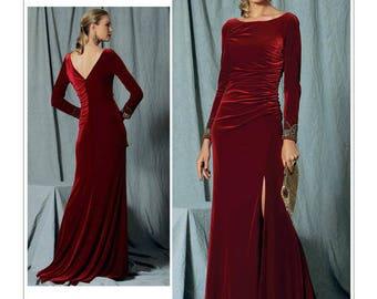 V1520 Designer Badgley Mischka Vogue dress sewing pattern