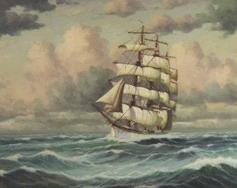 Clipper Ship At Sea