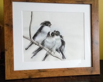 Giclee Print of Long Tailed Tits