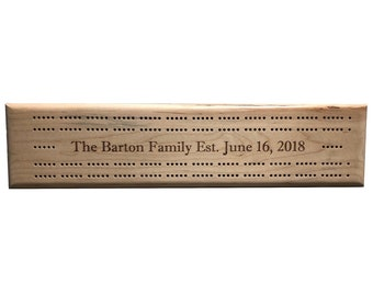 Personalized 2 Track Cribbage Board