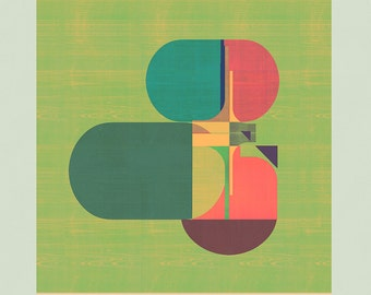 Abstract composition 862 - contemporary art - abstract geometric - 100 x 100 cm - Limited edition