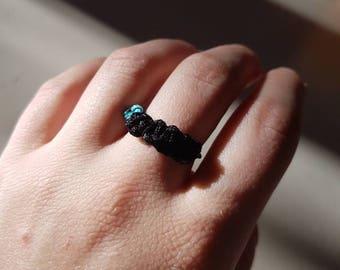 Black Shambala style ring