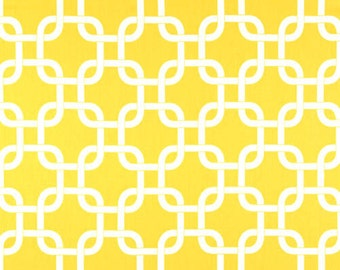 Premier Prints Geometric Gotcha in Corn Yellow Twill Home Decor fabric, 1 yard