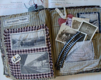 Vintage RailRoad Tracks for Altered art and Assemblage