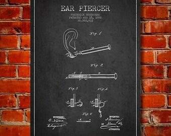 1882 Ear Piercer patent Canvas Art Print, Wall Art, Home Decor, Gift Idea