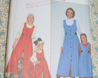 Simplicity 8292 Childs and Misses Jumper and Petticoat Sewing Pattern - UNCUT - Size XS - XL , 3 - 8