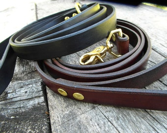 Leather Leash, Leather Lead, Dog Leash, Pet Leash, can be dyed to match any collar.