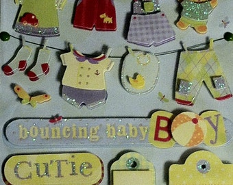 K&Company Embellishments - Baby Boy Set of 2 Packages